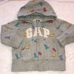 Baby GAP 12-18m Logo Zip Up Hoodie with Dinosaurs